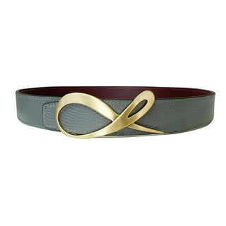 Classica Grafite Bordo Yellow Gold Belt