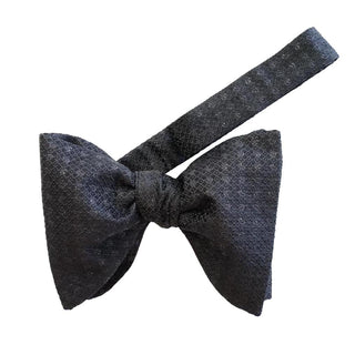 Onyx Pyrite Jumbo Pre Tied Butterfly Bow Tie