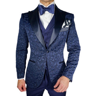 Navy Blue Paisley Jacket