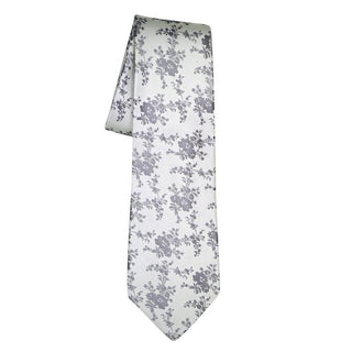 Mini Floral Bordeaux Necktie - Sebastian Cruz Couture
