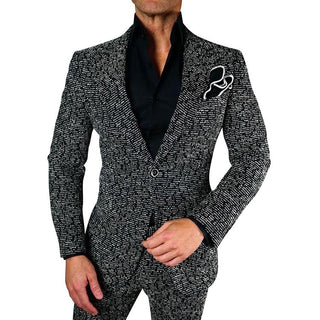 S by Sebastian Platino Tweed Jacket