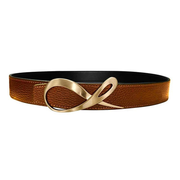 Classica Caramello Nero Opal Rose Gold Belt