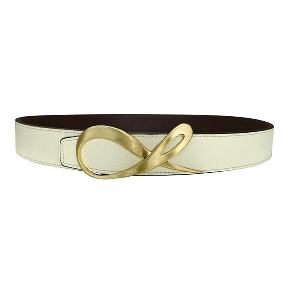 Classica Mascarpone Cacao Yellow Gold Belt