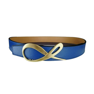 Latte Cobalt Yellow Gold Belt