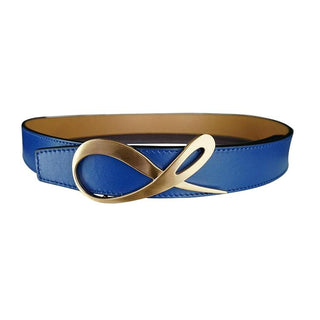 Latte Cobalt Rose Gold Belt