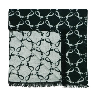 Signature Brushed Silk Scarf in Black