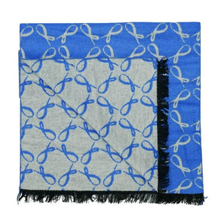 Signature Brushed Silk Scarf In Sapphire