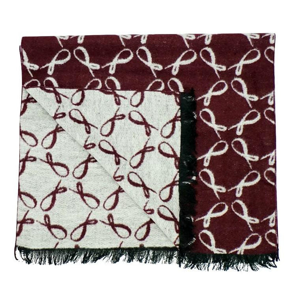 Signature Brushed Silk Scarf In Vino