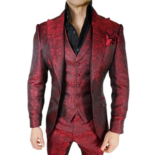 S by Sebastian Burgundy Paisley Dinner Jacket