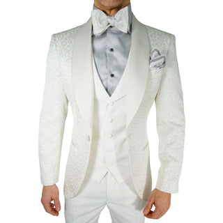 White Paisley Dinner Jacket
