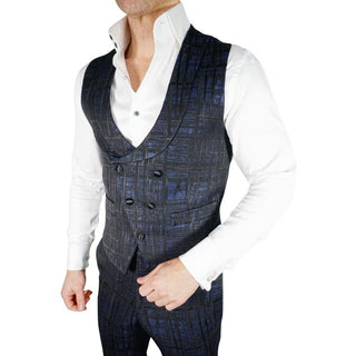 S by Sebastian Navy Blue Double Breasted Waistcoat