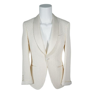 Vaniglia Honeycomb Smoking Jacket