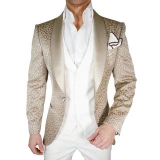 S by Sebastian Ivory Paisley Dinner Jacket