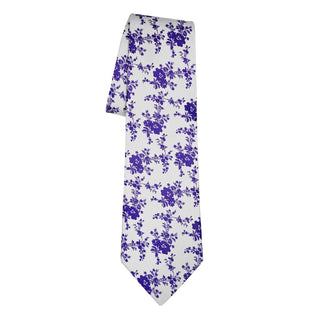 Purple Bianco Carnation Necktie