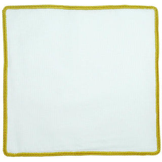 White Nuvola with Mustard Yellow Signature Border