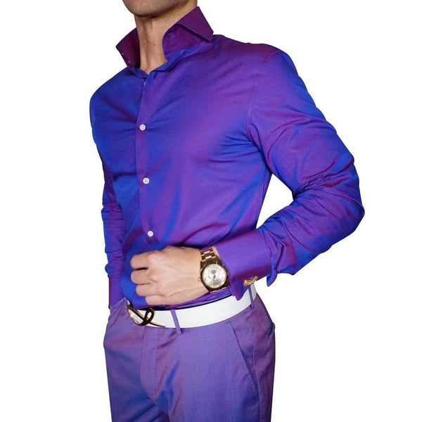 S by Sebastian Violet Chameleon Dress Shirt