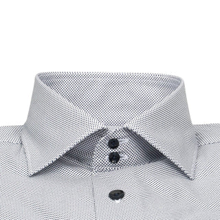 White Mini Dot Dress Shirt