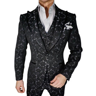 S by Sebastian Blu Alloy Bolle Jacquard Dress Shirt