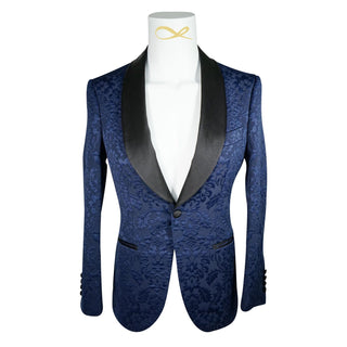 Navy Blue & Black Fiore Dinner Jacket