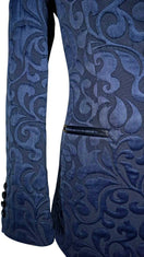 Navy Blue Paisley Dinner Jacket