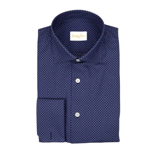 Navy Goccia Dress Shirt