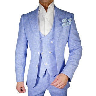 Lilac Blu Lino Tweed Jacket