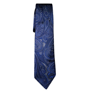 Venetian Paisley in White Argento Luxury Necktie