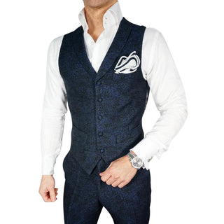 Navy Blue Fiore Dinner Jacket