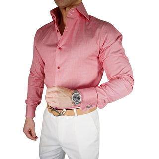 S by Sebastian Cranberry Awning Dress Shirt