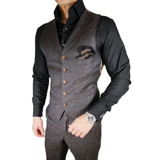 S by Sebastian Brown Double Breasted Waistcoat