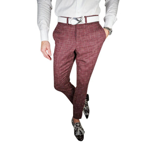 Burgundy Canestro Trousers