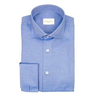 Cobalt Blu Weavetex Dress Shirt
