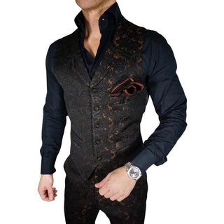 S by Sebastian Zar Bianco Double Breasted Waistcoat