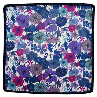 Purple Orchidea with Navy Blue Signature Border