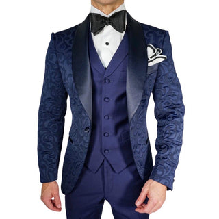 S by Sebastian Burgundy & Black Paisley Dinner Jacket