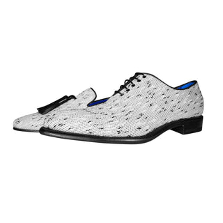 White Tweed Legare Lace Ups