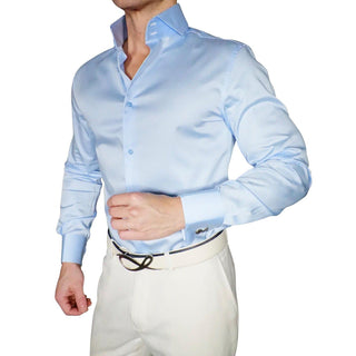 S by Sebastian Sky Blu Silky Poplin Dress Shirt