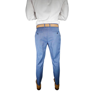 S by Sebastian Steel Blu Gemelli Trousers