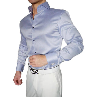 S by Sebastian Lavender Gabardine Dress Shirt