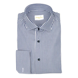 Navy Awning Poplin Dress Shirt