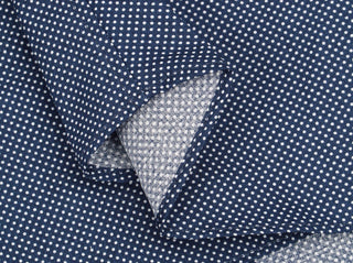 Navy Mini Dot Dress Shirt