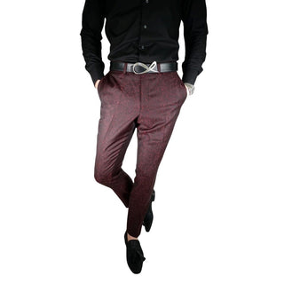 Black Damasco Paisley Trousers