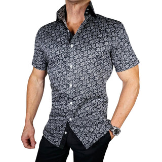 S by Sebastian Jet Paisley Short Sleeve Shirt
