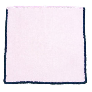 Pale Rosa with Pink and Navy Blue Signature Border