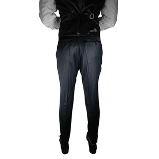 S by Sebastian Black Tuxedo Style Trousers