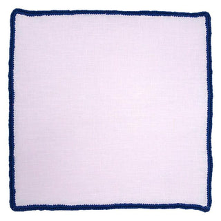 Pale Rosa with Navy Blue Signature Borders
