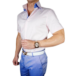 S by Sebastian Hamptons Pink Short Sleeve Shirt