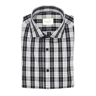Charcoal Plaid Short Sleeve Shirt