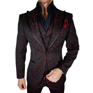 S by Sebastian Dinner Jacket Red Paisley