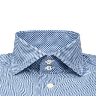 Azure Mosaic Dress Shirt